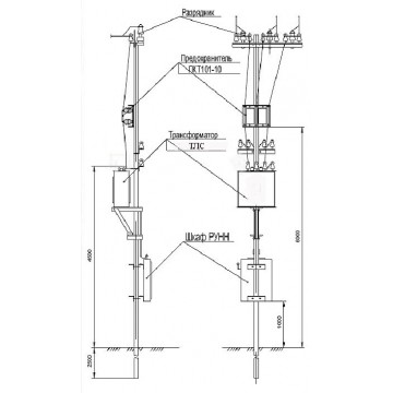 Столбовые трансформаторные подстанции СТП